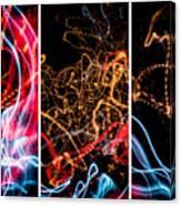 Lightpainting Triptych Wall Art Print Photograph 5 Canvas Print