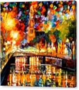 Lights And Shadows Of Amsterdam Canvas Print