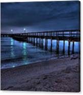 Lights At The End Of The Pier Canvas Print