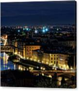 Lights Of Florence Canvas Print