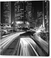 Lights Of Hong Kong Canvas Print