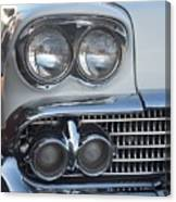 Lights On A '58 Chevy Canvas Print