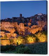 Lights On Pitigliano Canvas Print