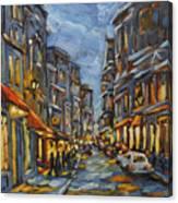 Lights Up After Dusk Canvas Print
