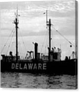 Lightship Delaware Vintage 1968 Canvas Print