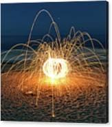 Lighty Fireworks Canvas Print