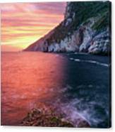 Ligurian Sunset - Vertical Canvas Print
