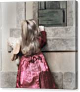 Liitle Girl In Red Canvas Print