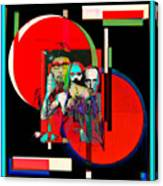Like Burrow In It's Abstract Burroughs The Word On It's Side Canvas Print