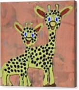 Lil Giraffes Canvas Print