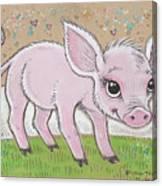Lil Piglet Canvas Print