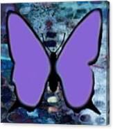 Lila Papillon Canvas Print