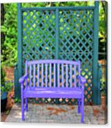 Lilac And Teal Garden Canvas Print