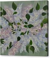Lilac Flowers Expressing Harmony Canvas Print