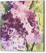 Lilacs - Note Card Canvas Print