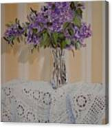Lilacs And Lace Canvas Print