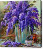 Lilacs Still Life Canvas Print