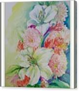 Lilies And Mums Canvas Print