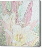Lilies. Flowers And Buds. Canvas Print