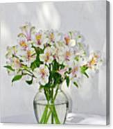 Lilies In A Vase 001 Canvas Print