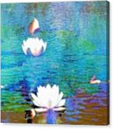 Lilies In Abstract Canvas Print