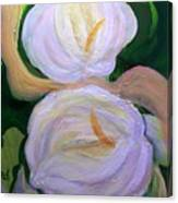 Lilies With Chiffon Canvas Print