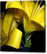 Lilliums By Two Canvas Print
