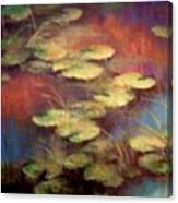 Lilly Pond In Autum  Canvas Print