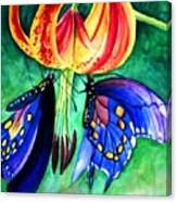 Lily And The Butterflies Canvas Print