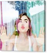Lily Collins Canvas Print