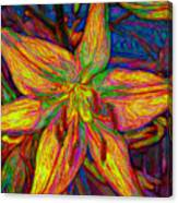 Lily In Abstract Canvas Print