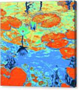 Lily Pads And Koi 10 Canvas Print