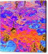 Lily Pads And Koi 17 Canvas Print