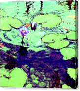 Lily Pads And Koi 2 Canvas Print