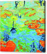 Lily Pads And Koi 20 Canvas Print