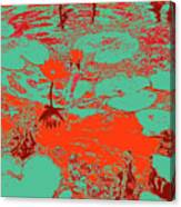 Lily Pads And Koi 35 Canvas Print