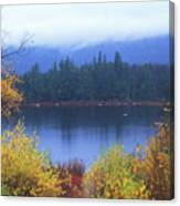 Lily Pond Autumn Kancamagus Highway Canvas Print