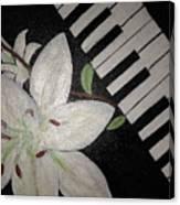 Lily's Piano Canvas Print