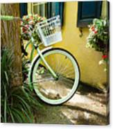 Lime Green Bike Canvas Print