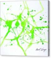 Lime Green Study Canvas Print