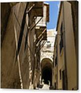 Limestone And Sharp Shadows - Old Town Noto Sicily Italy Canvas Print