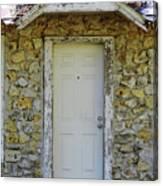 Limestone House Door Canvas Print