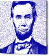 Lincoln Abstract Blue Canvas Print