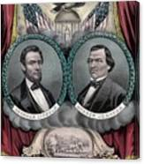 Lincoln And Johnson Election Banner 1864 Canvas Print