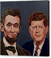 Lincoln And Kennedy Canvas Print