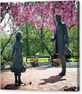 Lincoln-bedell Statue Westfield  Canvas Print