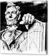 Lincoln Carved Canvas Print