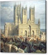 Lincoln Cathedral From The North West Canvas Print