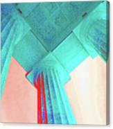 Lincoln Column Blue Canvas Print