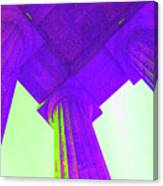 Lincoln Column Purple Canvas Print